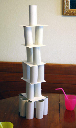 Pin paper tower challenge on pinterest for Toilet paper roll challenge
