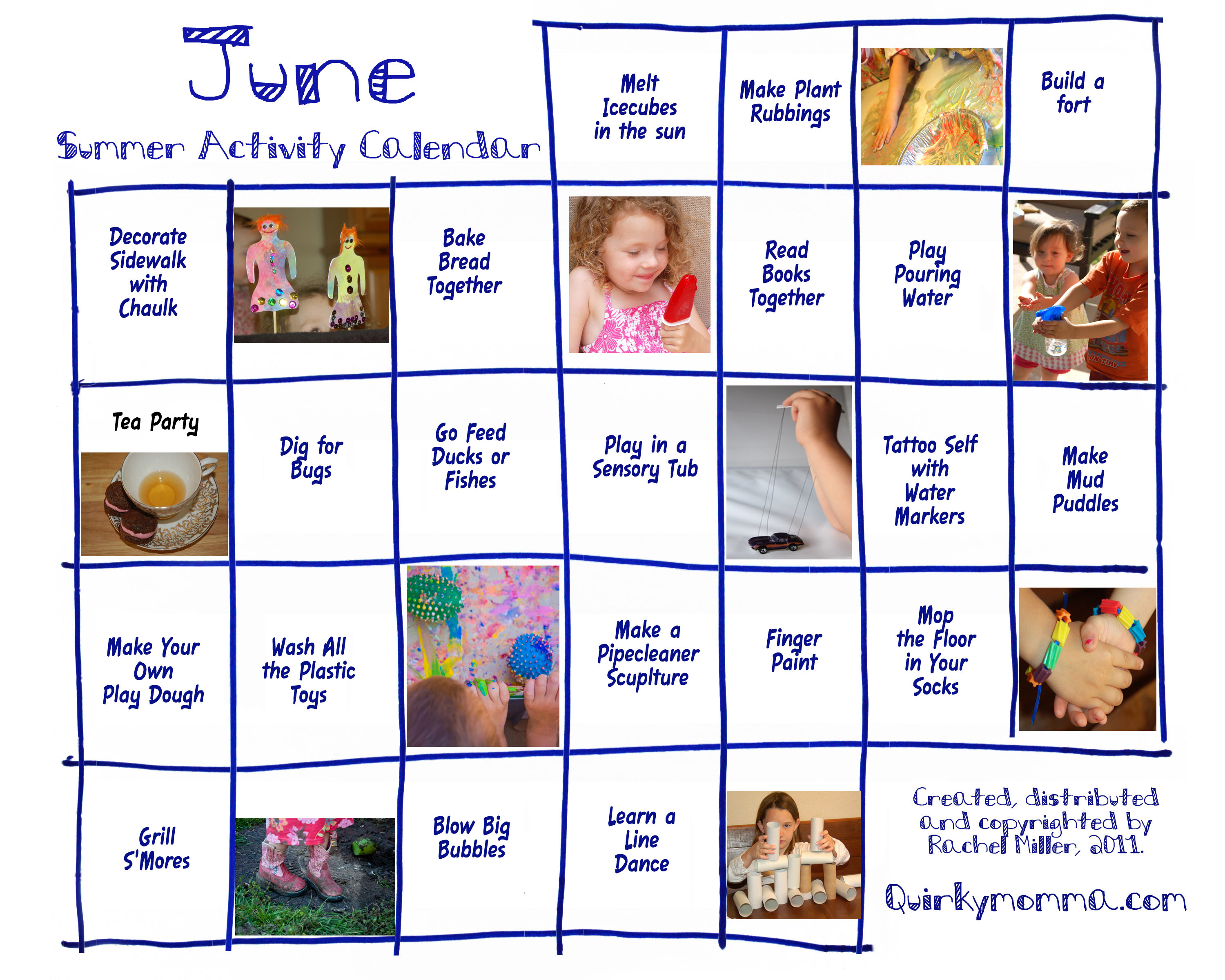 Kindergarten Calendar Of Activities : Activity calendars