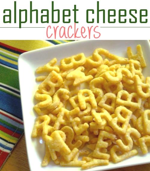 alphabet cheese crackers