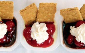 cherry vanilla and chocolate pudding single serving
