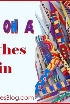 Fun and Funky Clothespins: A Preschool Painting Project