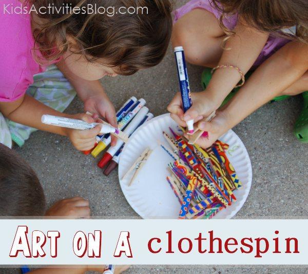 clothespin art