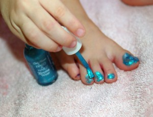 painting our toenails