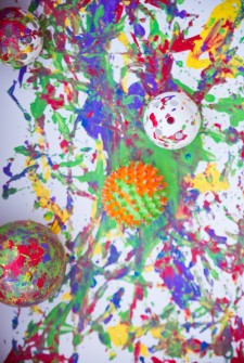 Making a Mess: Preschoolers Painting with Balls