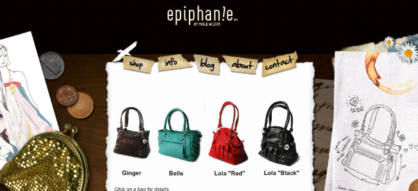 Ephiphanie Bag website