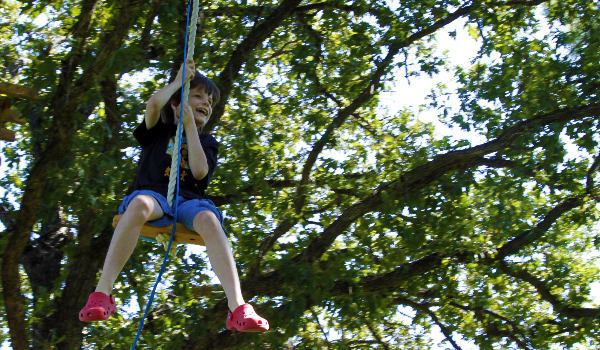 zipline ride from tree house platform