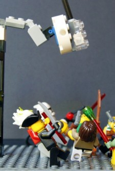 lego minifigure dance party