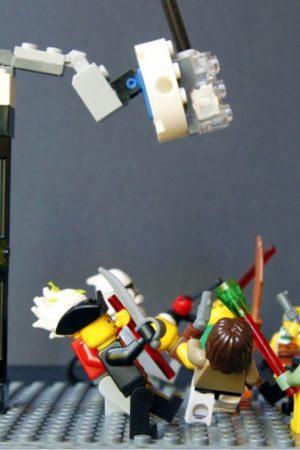 lego minifigure dance party