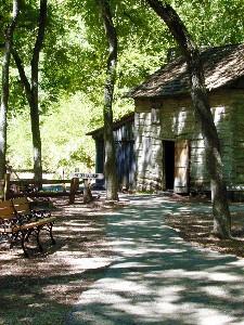 we went to log cabin village