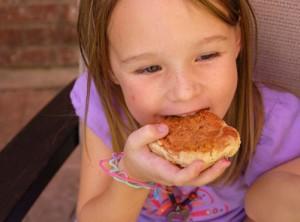 kid eating cookies