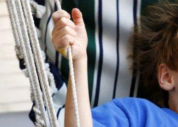 4 year old boy on swing