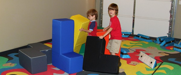 big foam shapes at Dallas children's museum Sci-Tech Discovery Center