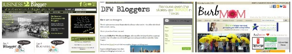 business 2 blogger dfw bloggers and burb mom websites