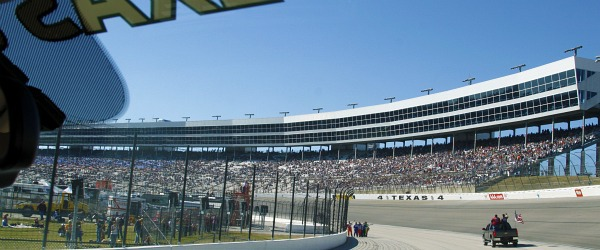 from texas motor speedway track during driver intro