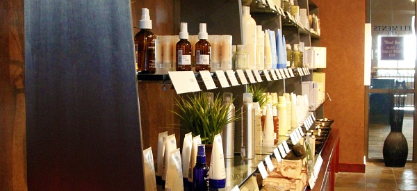 Great Wolf Spa store shelves with Aveda