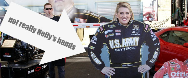 holly in ryan newman's clothes