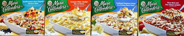 marie callenders new baked meals family frozen dinners