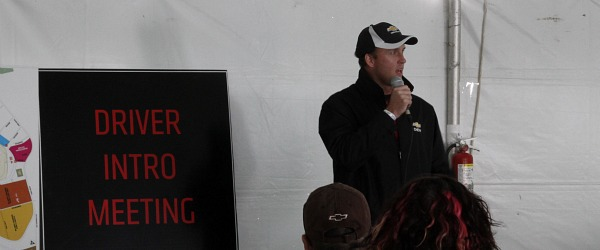 Mark Harland at Driver Intro Meeting