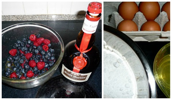 Grand Marnier Cake berries and ingredients