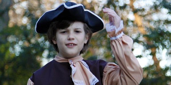 4th grade boy in American colonist costume