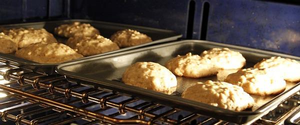 breakfast cookies in oven