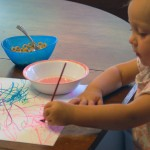 Toddler marker painting