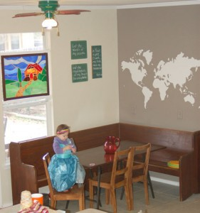 world map wall decor