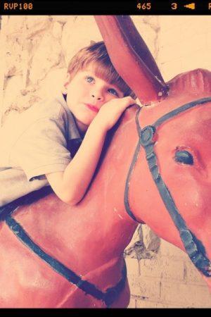 boy on burro