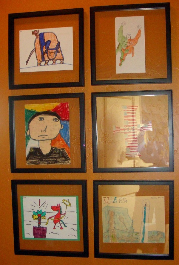 series of six childrens art