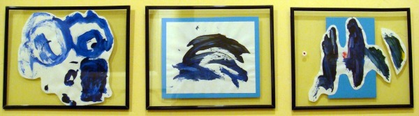 blue childrens art series framed
