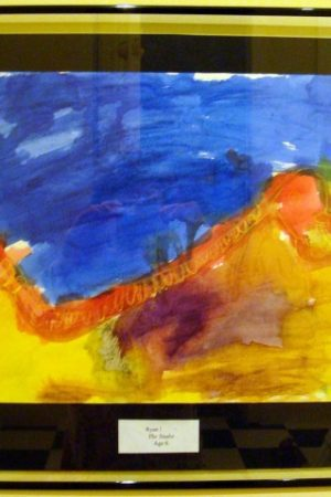 floating frame for childrens art work