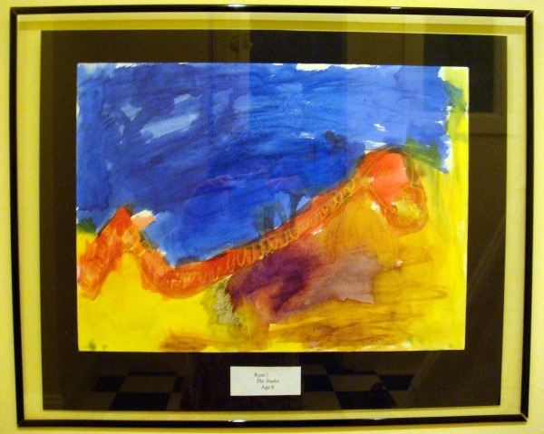 floating frame for childrens art work