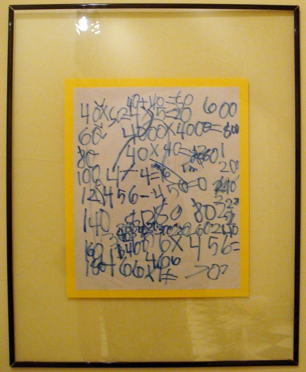 framed childrens math