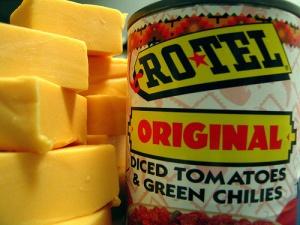 velveeta cheese and rotel