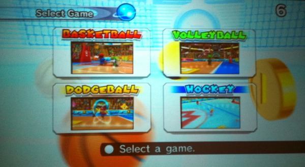 wii Mario Sport Mix select a game