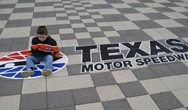 boy at texas motor speedway