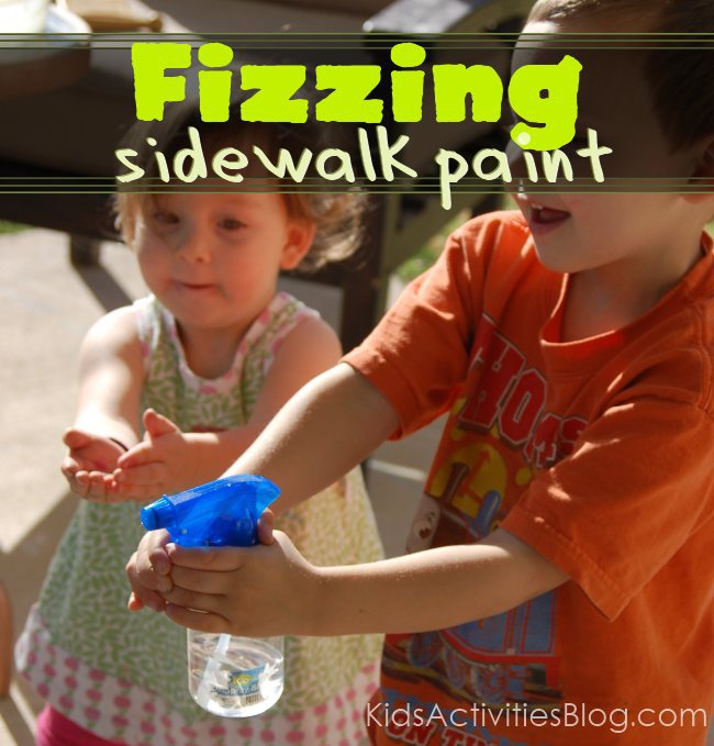 fizzing sidewalk paint this is chalk lile paint that when you spray. Black Bedroom Furniture Sets. Home Design Ideas