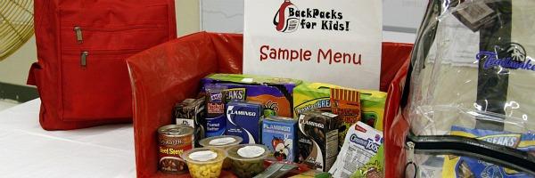sample menu for backpacks for kids program