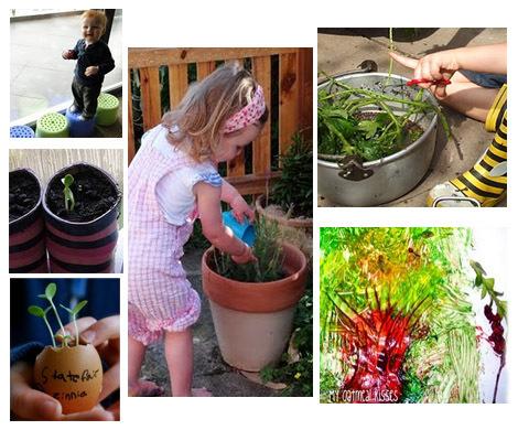 preschoolers gardening