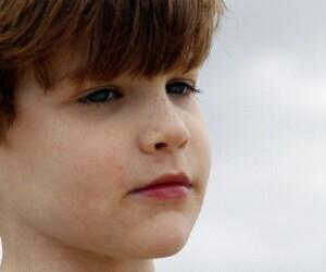 boy looking skeptical