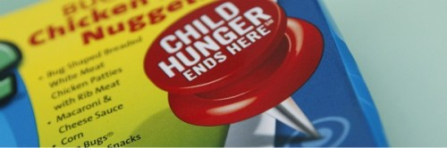 Child Hunger Ends here red pushpin