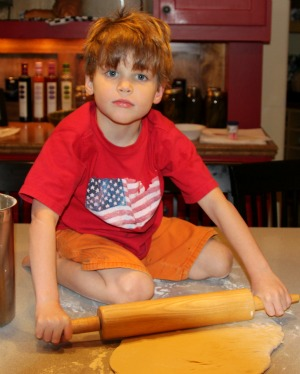 boy in his favorite outfit