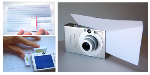 3X5 Card Photo Lighting Technique