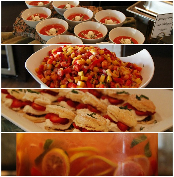 CA Strawberry Tour Dallas event food inspired by strawberries