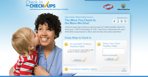 Check-in for Check Ups website