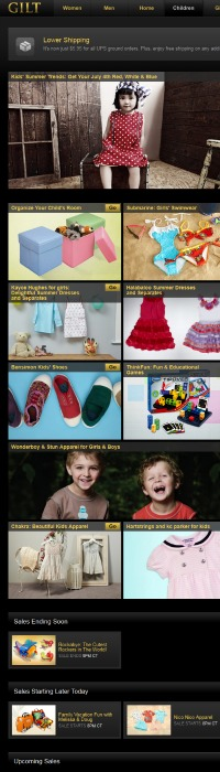 Gilt Group Children website