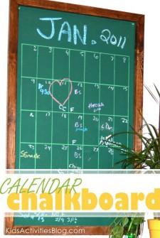 DIY Chalk Calendar