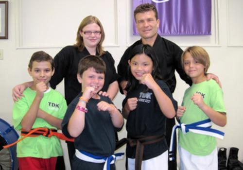 posed karate class
