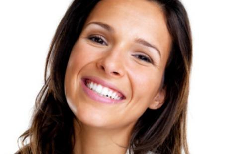 Closeup of woman smiling 475x311