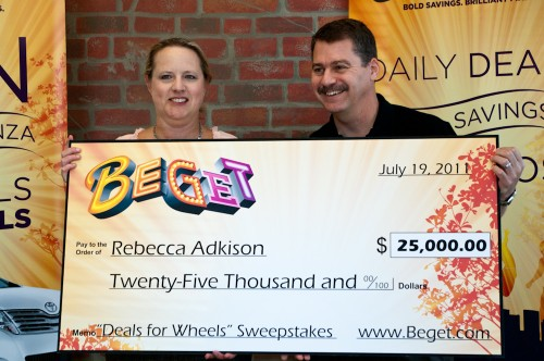 Beget Deals for Wheels Sweepstakes Winner